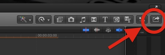 Button Bereitstellen in FCP X